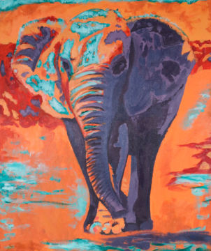Elefant of artist Sabine May, Tiere, Afrika