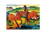 Franz Marc - Red Horse