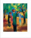 August Macke - Women in green jacket, 1913