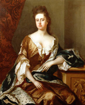 Portrait of Queen Anne (1665-1714) of artist Michael Dahl, Great, Rulers, Stuart, Female, Ermine, Stewart, Royalty, Britain