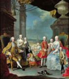Martin II nach Mytens - Francois III (1708-65) with his wife Marie-Therese (1717-80) and their children