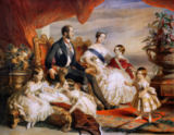 Franz Xavier nach Winterhalter - Queen Victoria (1819-1901) and Prince Albert (1819-61) with Five of the Their Children, 1846