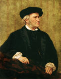 Giuseppe Tivoli - Portrait of Richard Wagner (1813-83) 1883