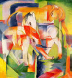 Franz Marc - Elephant, Horse and Cow, 1914
