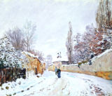 Alfred Sisley - Road under Snow, near Louveciennes, 1876