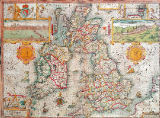 Jodocus Hondius - Map of the Kingdom of Great Britain and Ireland, 1610