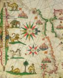 Pietro Giovanni Prunes - The North African Coast, from a nautical atlas, 1651  (detail from 330919)