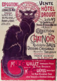 Theophile-Alexandre Steinlen - Poster advertising an exhibition of the 'Collection du Chat Noir' cabaret at the Hotel Drouot, Paris, May 1898