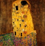 Gustav Klimt - The Kiss, 1907-08