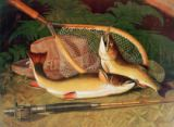 Thomas Sedgwick Steele - Still Life with a Salmon Trout, a Rod and a Net