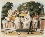 Charles Emilius nach Gold - Natives pay homage to their ruler, engraved by Thomas Medland (1755-1823) 1803