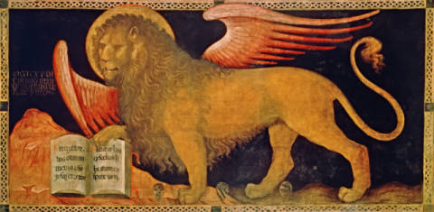 The Lion of St.Mark of artist Jacobello del Fiore, Lion, Mark, 1439, Died, City, Fiore, Doges, Gothic