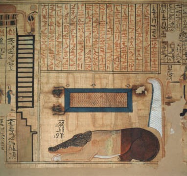 Book of the Dead of Nebqed/Egypt.papyrus of artist Ägyptische Malerei, Mid, Life, Dead, Hippo, Realm, Forman, Kingdom, Devours