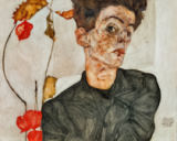 Egon Schiele - Selfportrait with Chinese Lantern Fruit