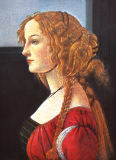 Sandro Botticelli - Portrait of a young woman in profile