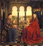 Jan Van Eyck - Madonna of N.Rolin /Paint./Eyck/ c.1434