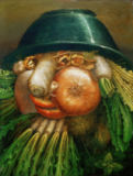 Giuseppe Arcimboldo - Market-Gardener or Joke with Vegetables