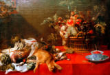 Frans Snyders or Snijders - Still Life with Fruit Basket, Hunting Spols and Vegetables