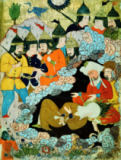 Buchmalerei - Muhammad and Abu Bakr in a cave