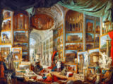 Giovanni Paolo Pannini or Panini - Gallery displaying views of ancient Rome