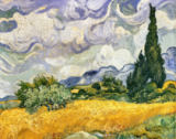 Vincent van Gogh - Cornfield with Cypresses