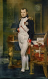 Jacques-Louis David - Napoleon I / Portrait / J.L.David