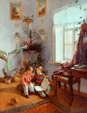 Iwan Fomitsch Chrutzkij - Interior with two boys reading