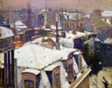 Gustave Caillebotte - Toits sous la neige - Snow on roofs, 187