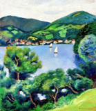 August Macke - View of Lake Tegern