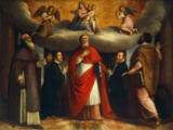 Marco Vecellio - Mary with the Child in Glory, Saints Antonius Abbas, Jerome and Mark, and two worshipping aldermen