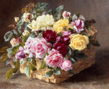 Anthonore Christensen - A Still Life of Roses in a Basket