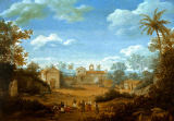 Frans Jansz Post - The Church of St Cosmas and St Damian at Igaruca, Brazil