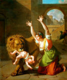 Nicolas Andre Monsiau - Le lion de Florence - The lion of Floren
