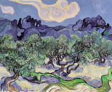 Vincent van Gogh - Olive trees with Les Alpilles in the background