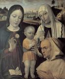 Bergognone - Mary with the Child, St.Catherine of Siena and a Carthusian monk