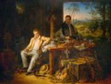 Eduard Ender - Humboldt and Bonpland by the Orinoco River