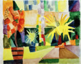 August Macke - Garten am Thunersee