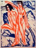 Ernst-Ludwig Kirchner - Two Bathers on the beach