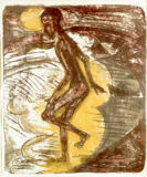 Ernst-Ludwig Kirchner - Man striding into the Sea